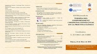 XXVIII Jornada de Teràpia del Comportament i Medicina Conductual en la Pràctica Clínica