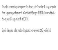 Certificació Europea i Re-acreditació  Només queden 15 DIES!