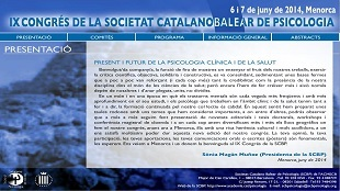IXè Congrés Societat Catalano Balear de Psicologia